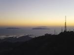 Panorama: scorcio in cui si vedono abbastanza chiaramente le isole in lontananza (delle quali l'unica il cui nome ricordo ogni volta è Favignana)
