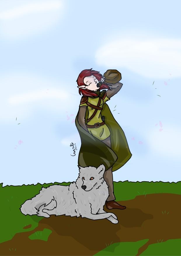 Il PG - uno dei pochi ancora vivi - di un'amica, una mezzelfa ranger con il lupo più intelligente della storia, ch di solito capisce i problemi prima di noi e ci aiuta a risolverli.